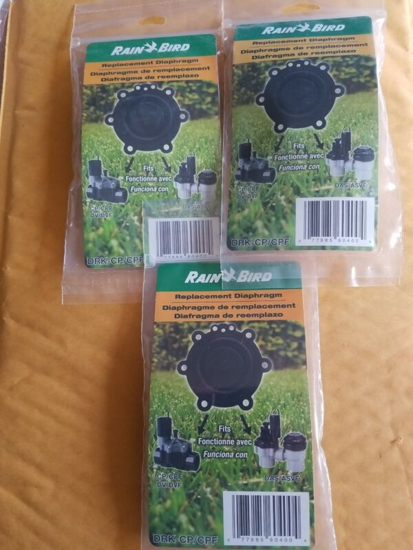 3 Rain Bird DRK-CP/CPF Replacement Diaphragms. New. Free shipping.