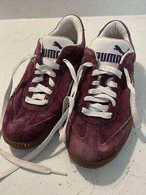 Women's Purple Puma Liga trainers size 5