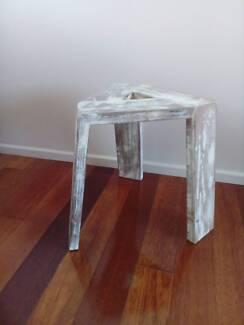 Rustic bathroom stool or side table