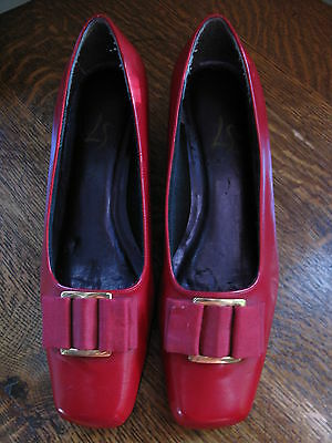 Vintage Women's Cosplay Red Heeled Shoes Halloween Wizard of Oz Dorothy 8 1/2 M