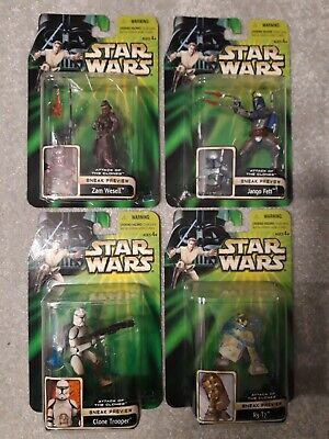Star Wars Power of the Jedi Episode 2 Sneak Preview set of 4 action figures 2002