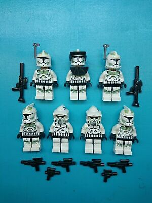 Lego Star Wars Lot 7 Minifigures Captain Lock, Horn Company Clone Troopers 7913!