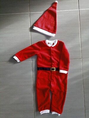 NEU & OVP !!! H&M Baby Nikolaus Weihnachtsmann Karneval Fasching Kostüm Größe 80 ()