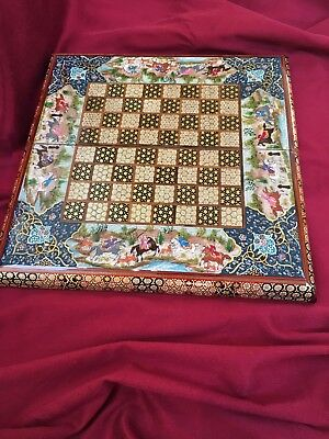Backgammon and chess board khatam / miniature luxury, Persian, Handmade