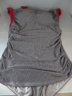 NWT Girl Howdy Coupe of Tea 1pc Swimsuit in Black/White Checkered size 22W Sexy