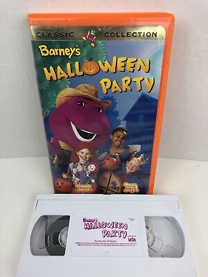 Barney's Halloween The Party VHS! 1983 1999 Vintage Orange Clamshell - Barneys Halloween Party