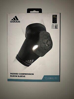 beecdf6fce Adidas Padded Compression Elbow Sleeve Size XL Black NEW