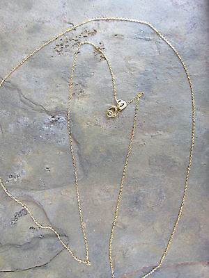 "10 KT Yellow Gold Cable Link Chain Necklace 20"" Diamond Cut Thin/Fine Delicate"