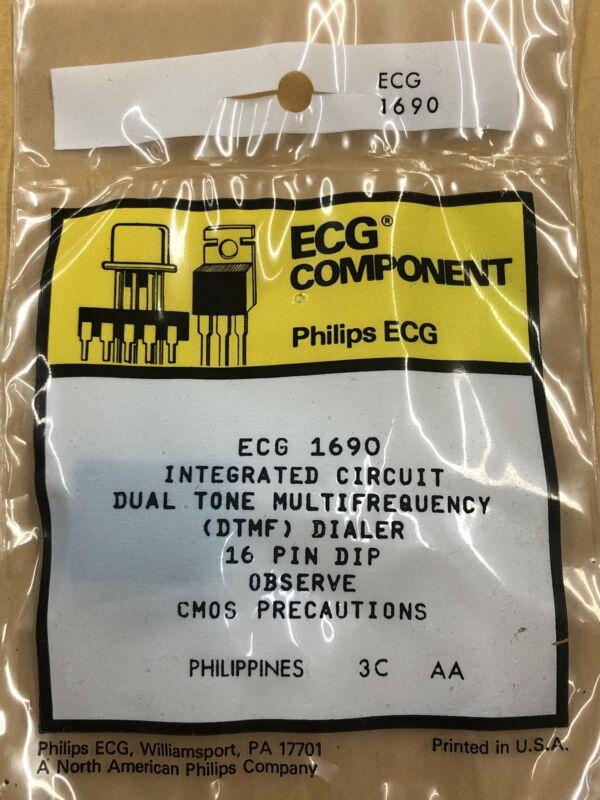 ECG1690 Telephone DTMF Dialer ~ 16 Pin DIP (NTE1690)