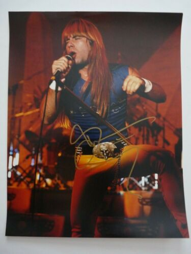 Bruce Dickinson Iron Maiden Signed Live Color 11x14 Photo Beckett Certified #2
