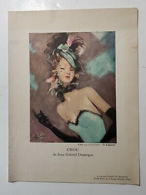 Vtg 1954 Le Cabaret Paris Restaurant Menu Chou by Jean Gabriel Domergue (Gabriel Jean)