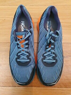HOKA ONE ONE Torrent Majolica Blue/Fusion Coral Men's Trail Running Shoes UK 9.5