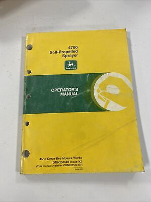 John Deere 4700 Self-propelled Sprayer Owner Operator Manual Omn200684