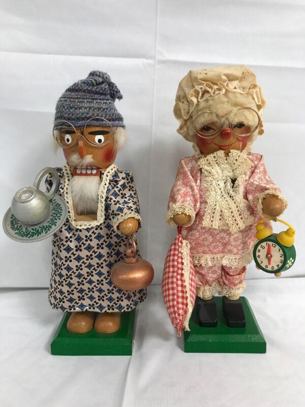 Vintage Steinbach Nutcrackers Set of 2 - Medi Opa & Oma (Grandpa & Grandma)