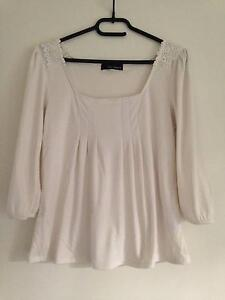Japanese brand White top with Pearl & Lace decoration Mooloolaba Maroochydore Area Preview