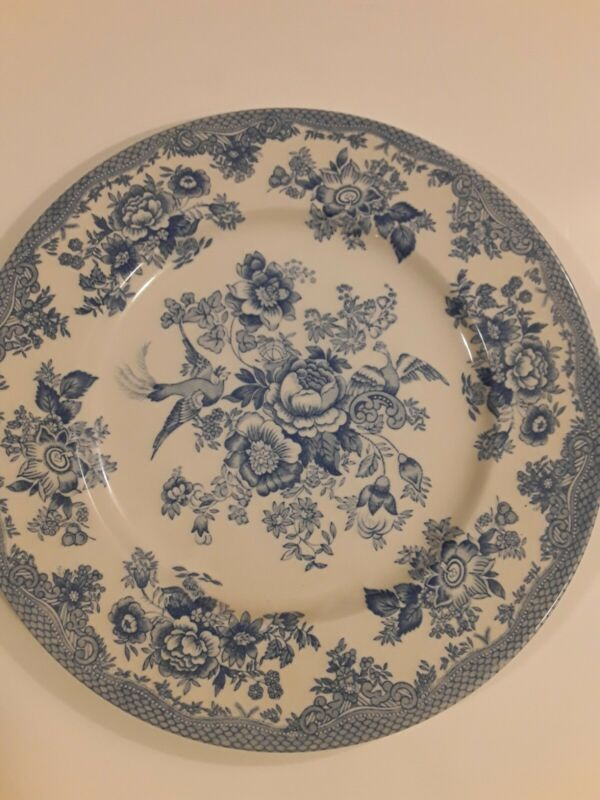 "Royal Stafford England ASIATIC PHEASANT 12"" Blue Dinner Plates"