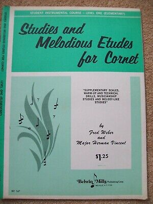 Studies And Melodious Etudes For Cornet - Level One, used for sale  Carshalton