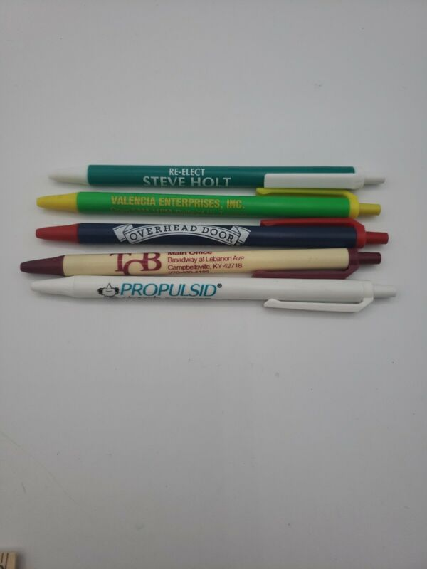 Lot Of 5 Advertising Pens Overhead Door Propulsid