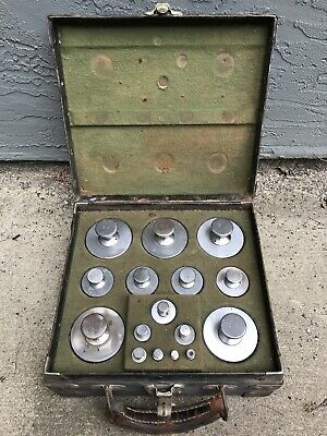 Vintage Hobart Dayton Scale Weight Calibration Set With Case 30lbs Complete