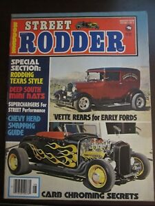 Street Rodder Magazine August 1978 Vette Rears for Early Fords Carb Chroming