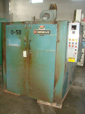 Grieve Industrial Walk In Powder Coating Oven Gas Fired 48x60x48 500f Heat