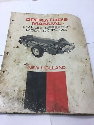 New Holland Manure Spreader Manual Model 510 To 516