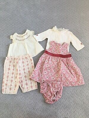 Baby Girl 0-3 Month Janie and Jack Dress Top Pants - Lot Of 5