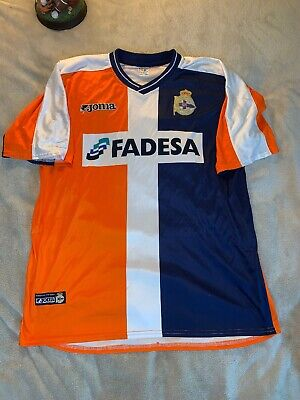Orange White Soccer Jersey - RARE Club Deportivo Fair Play Orange White Blue Joma Soccer Jersey Adult Size XL
