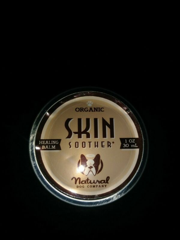 New Organic Natural Dog Company Skin Soother Healing Balm 1oz Can