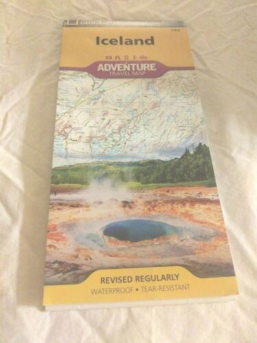 National Geographic Iceland Adventure Map Europe