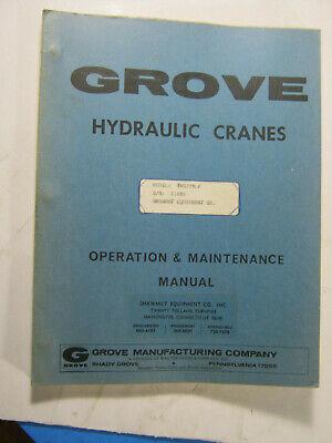 Grove Crane Tms 375 Lp Operation Maintenance Manual 1971 Oem