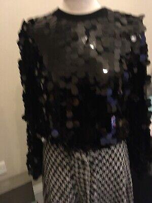 Zara Black Sequin Embellished Christmas Sparkling Jumper