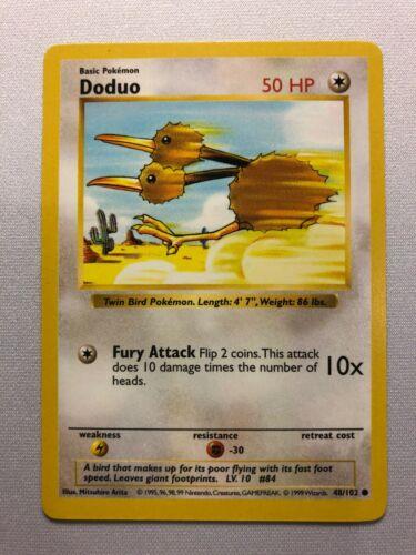48//102 Pokemon Shadowless Base Set Doduo Common NEAR MINT