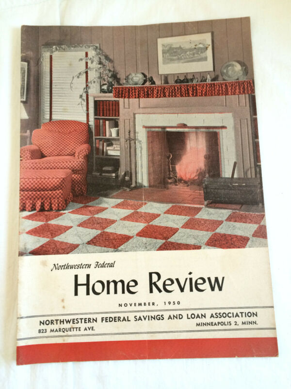Mpls MN Northwestern Federal Savings & Loan bank Home Review Magazine Vtg 1950s