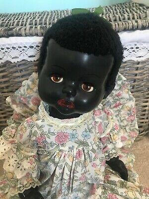 PEDIGREE BLACK HARD PLASTIC BABY VINTAGE DOLL 1950'S