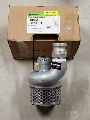 New Open Box Deal Greenlee H4665a Water Pumphyd2 In Outlet275 Gpm Max