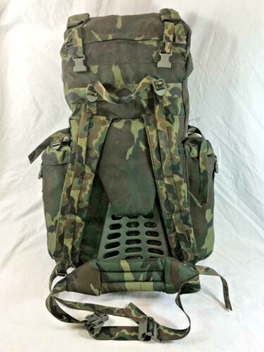 Italian Army Surplus 90L Large Alpine Woodland Camo Rucksack Backpack Italy ILBE