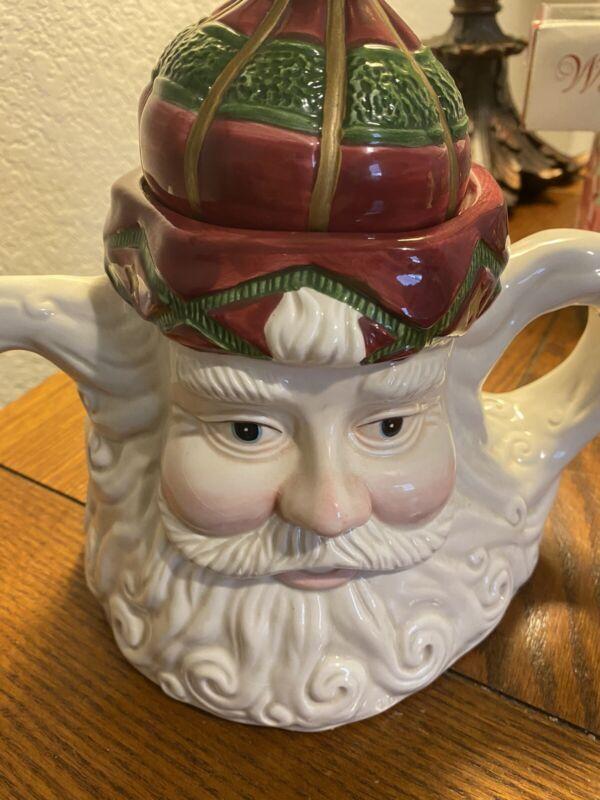 Vintage Lily Creek Landing  Ceramic Santa Claus Teapot