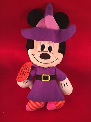 Disney Minnie Plush Halloween Treat Bag  Witch Costume Stuffed Animal  Mickey](Witch Halloween Costumes 2017)