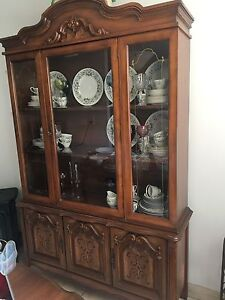 Dining room China cabinet, Matching table and chairs
