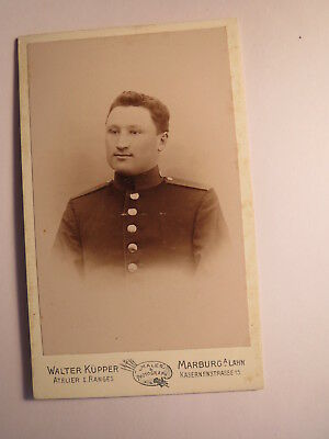 Marburg a. Lahn - Soldat in Uniform - Portrait / CDV