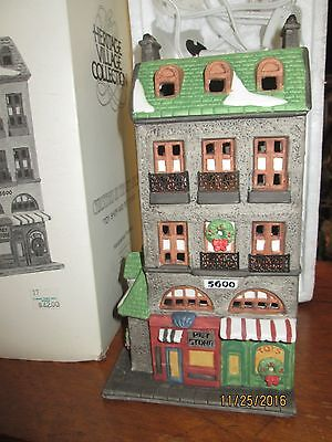 """Heritage Village Christmas In The City """"Toy Shop & Pet Store"""" original box"""