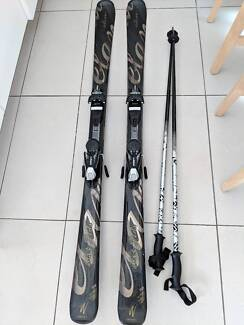 158 cms Womens Skis and Poles