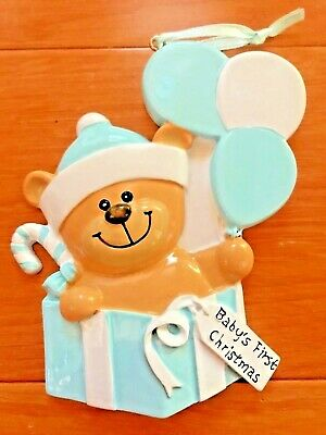 Baby s First Christmas POLAR X Personalizable Christmas Tree Ornament Ships Free ()