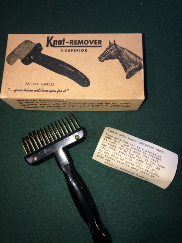 Knot-remover by Superior horses dogs vintage NOS NIB 1950s