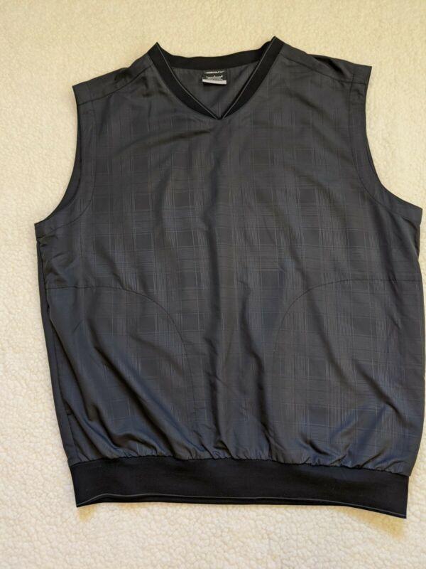 Nike Golf V-neck Plaid dark Gray, Large, sleeveless pullover windbreaker vest.