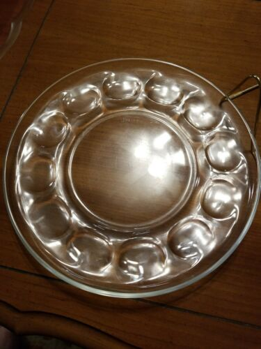 Pyrex Ovenware Thick Clear Glass Deviled Egg Dish 10  - $7.99