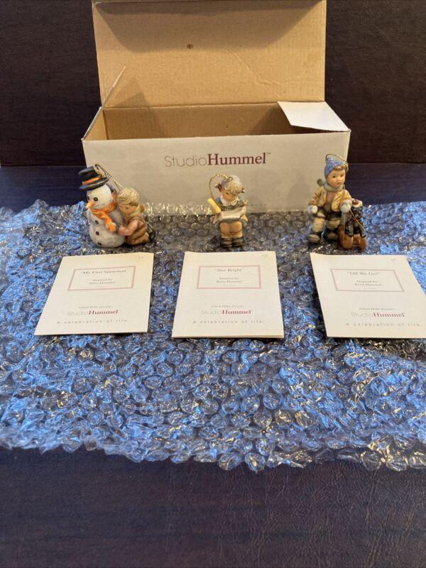Berta Hummel Studio Hummel Ornaments - Set #13 (96047) w/COAs!!