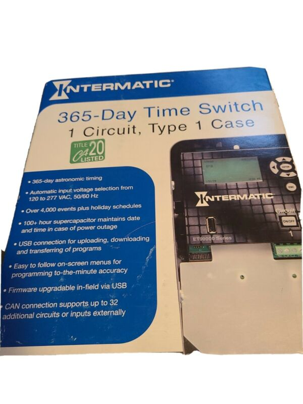 365 -day Time Switch 1 Circuit, Type 1 Case ET90115C