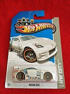 2013 Hot Wheels Nissan 350Z 28/250 X1681 White (238)
